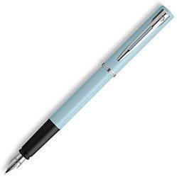 WATERMAN威迪文WatermanAllure钢笔|浅蓝色哑光漆镀铬饰边|带礼品盒 127.78元