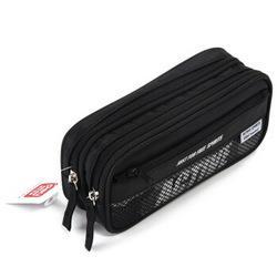 deli得力3074时尚运动款笔袋黑色 11.13元(需买3件,共33.39元)