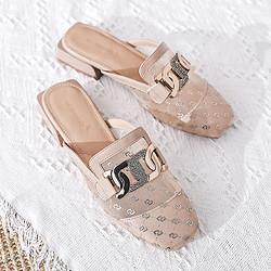 REDDRAGONFLY红蜻蜓红蜻蜓2021女鞋一脚蹬穆勒鞋后空女半拖 159元
