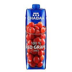 CHABAA芭提娅红葡萄汁1L 19.95元(需买2件,共39.9元)
