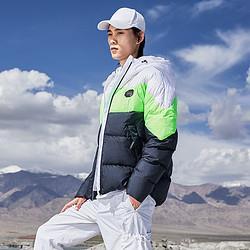 LI-NING李宁男式羽绒服男AYMP199时尚撞色短款百搭连帽保暖男士外套男 369元