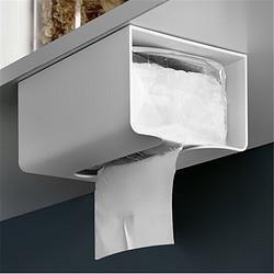 木杰免打孔挂壁式纸巾盒无痕粘贴抽纸置物架卫生间塑料纸巾抽8.9元