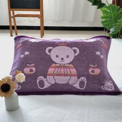 柳庭家纺枕巾纯棉小号一对卡通儿童纱布枕头巾全棉32*52cm 12.9元(需用券)