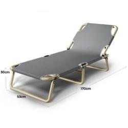 索乐折叠床单人床午睡床办公室躺椅午休床午睡椅简易陪护行军床 42元