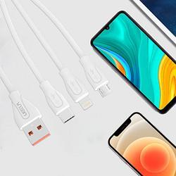 UEELR优耳优耳UX2911.2米5A三合一快充数据线适用所有机型ipone苹果安卓华为一拖三充电线厂家直发4.9元