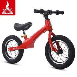 PHOENIX凤凰儿童平衡车滑步车1-2-3-6岁小孩滑行车男孩女孩童车无脚踏自行车红色{镁合金}充气胎168元