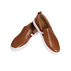 BALLY巴利男士焦糖色牛皮红白条纹平底商务户外休闲鞋单鞋HERLAD/631689元(需用券)