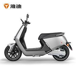 Yadea雅迪G5MAX电摩72V43AH锂电豪华时尚电摩电动车科技银 14999元