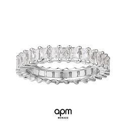 APMMonaco长方形银素圈戒指925银A18240OX    1180元(包邮)