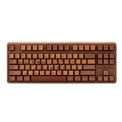 AJAZZ黑爵ChocolateCubes巧克力色机械键盘87键粉轴219元
