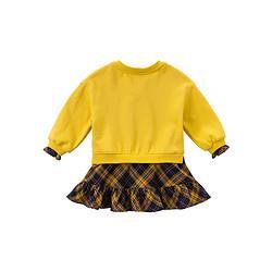 DAVE&BELLA戴维贝拉女童连衣裙春秋新款童装女宝宝裙式上衣儿童洋气衣服59元