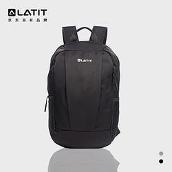 LATIT双肩包20L防水背包运动包男女14寸商务笔记本电脑包书包旅行登山包便携易收纳黑色 39.95元