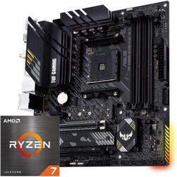 ASUS华硕TUFGAMINGB550M-PLUS(WI-FI)主板+AMD锐龙R7-5800XCPU处理器板U套装 3419元