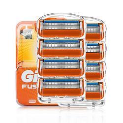 Gillette吉列锋隐5致顺刀头橙色款8刀头 129元