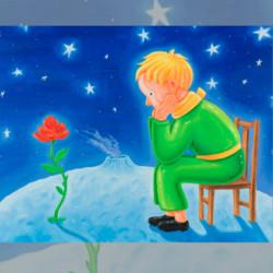 Artron雅昌沈敬东限量签名丝网版画――《小王子系列2》画芯尺寸57×77cm治愈系卡通人物形象    8000元