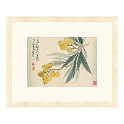 Artron雅昌恽寿平古典中式国画《枇杷图》茶褐色59×48cm宣纸    467元