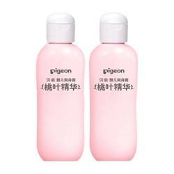 Pigeon贝亲婴儿桃叶精华液体爽身粉2支 63.9元