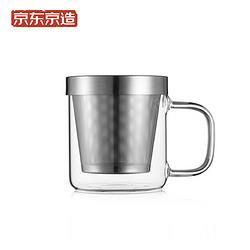 J.ZAO京东京造不锈钢玻璃泡茶杯350ml31.2元(需买3件,共93.6元)