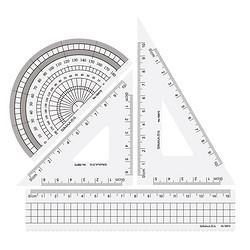 SIMAA西玛表单西玛学生文具考试绘图尺子四件套(直尺+三角尺*2+量角器)19870