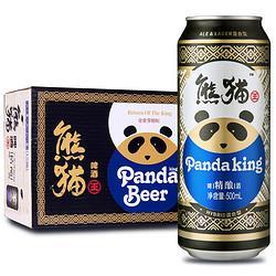 PandaKing熊猫王精酿啤酒12度听罐装500ml*12听整箱装    44.4元