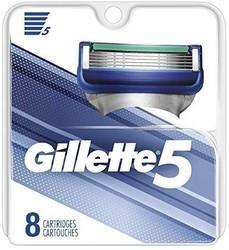 Prime会员:Gillette吉列男士5片剃须刀替换装(8件装) 119.34元