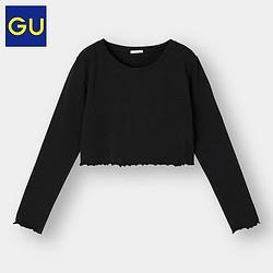 GU极优女装短款T恤显瘦百搭长袖打底女BM风优衣库姐妹品牌331535