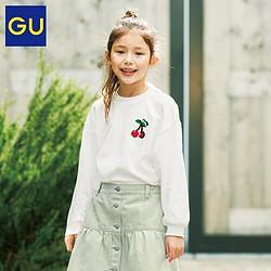 GU极优女童亮片套头卫衣优衣库姐妹品牌可爱新休闲女童卫衣330436