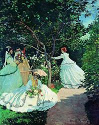 Artron雅昌莫奈油画《花园中的妇女们》70×99cm油画布背景墙装饰画    840元