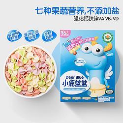 小鹿蓝蓝有机蝴蝶面200g三只松鼠旗下品牌婴幼儿辅食无 18元