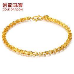 GOLDDRAGON金龙珠宝GS002D女款黄金凤尾手链约2.29-2.35克861.08元