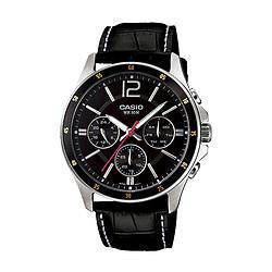 CASIO卡西欧手表指针系列商务休闲皮带男士手表298元