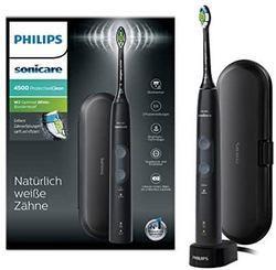 PHILIPS飞利浦Philips飞利浦SonicareProtectiveClean4500电动牙刷HX6830/53计时器及旅行盒,黑色 458.05元