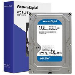 WesternDigital西部数据WD)蓝盘1TBSATA6Gb/s7200转64MB台式机械硬盘(WD10EZEX) 279元