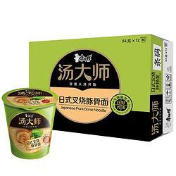 PLUS会员:康师傅 汤大师系列日式豚骨面 12杯34.9元包邮(双重优惠)