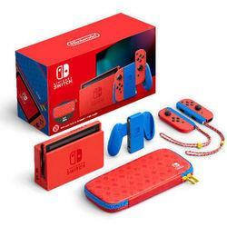 Nintendo任天堂日版Switch游戏主机续航增强版马力欧限定主机2199元
