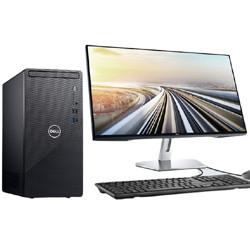 DELL戴尔dell灵越3891办公台式机电脑主机(十代升级i3-101058G256G1T三年服务)+27英寸电脑显示器 4389元