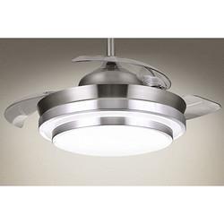 NVCLighting雷士照明EXDQ9001美式复古餐厅风扇灯20W银风 368元