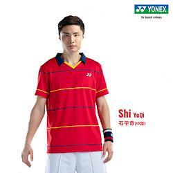 YONEX尤尼克斯YOBC1002CR国羽同款球迷版T恤