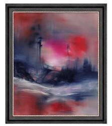 雅昌熊宁辉《莫扎特的柔板》风景抽象油画75×91cm 850元