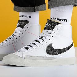NIKE耐克Nike耐克板鞋男鞋2021夏季新款BLAZER开拓者高帮休闲鞋CW6726-100