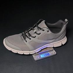 LATIT运动鞋2021新款夏季透气网面轻便软底减震慢跑健身跑步鞋休闲鞋男鞋灰色42码79.05元