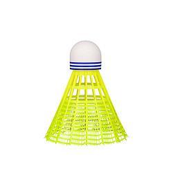 adidas阿迪达斯成人儿童塑料耐打耐用尼龙羽球TS3中速6只装黄色99元