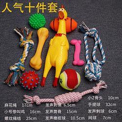阿莫尔amoor十个组合装狗狗玩具泰迪金毛磨牙耐咬宠物小狗发声惨叫鸡 23.9元