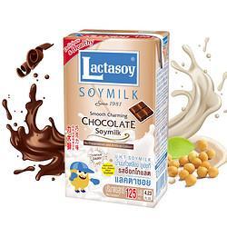 Lactasoy力大狮Lactasoy巧克力味豆奶125ml*6盒泰国进口营养早餐豆奶春游饮料饮品 7.25元