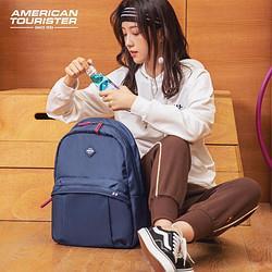 AMERICANTOURISTER美旅大学生书包时尚潮流女大容量背包电脑包男双肩包校园书包GT1海军蓝 103.05元