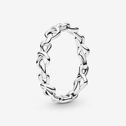 PANDORA潘多拉心意交织925银198018情侣对戒男女戒指礼物 205元