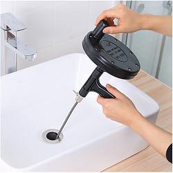 Neyankex手摇式马桶疏通器通下水道工具管道厕所毛发头发清理神器厨房家用黑色 19.9元