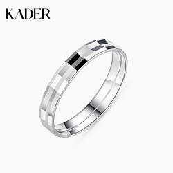 KADER卡蒂罗戒指男潮纯银小众设计单身戒嘻哈时尚男士个性高级感尾戒 59元