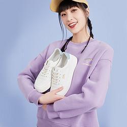 hotwind热风21春新款百搭时尚硫化鞋日常休闲厚底女小白鞋80元