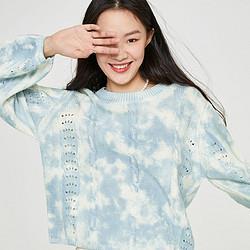 SELECTED思莱德女新时尚气质染色织花宽松针织衫上衣S|420425035239元